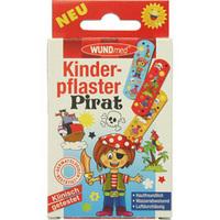 Børneplaster med pirat logo 10 stk