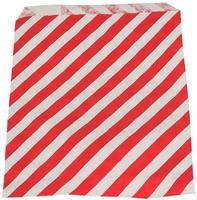 20 stk. Rød/Hvide papir slikposer 11x18cm